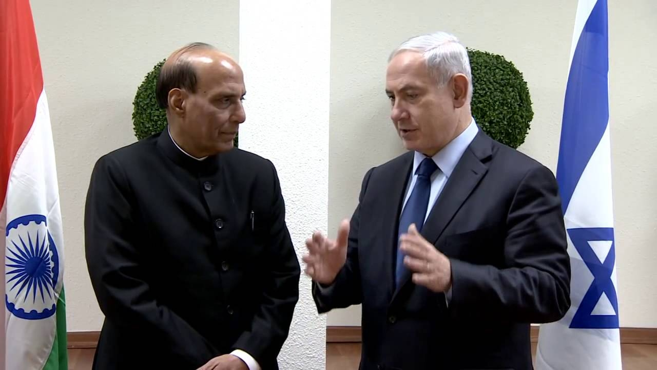 Rajnath Singh with Netanyahu