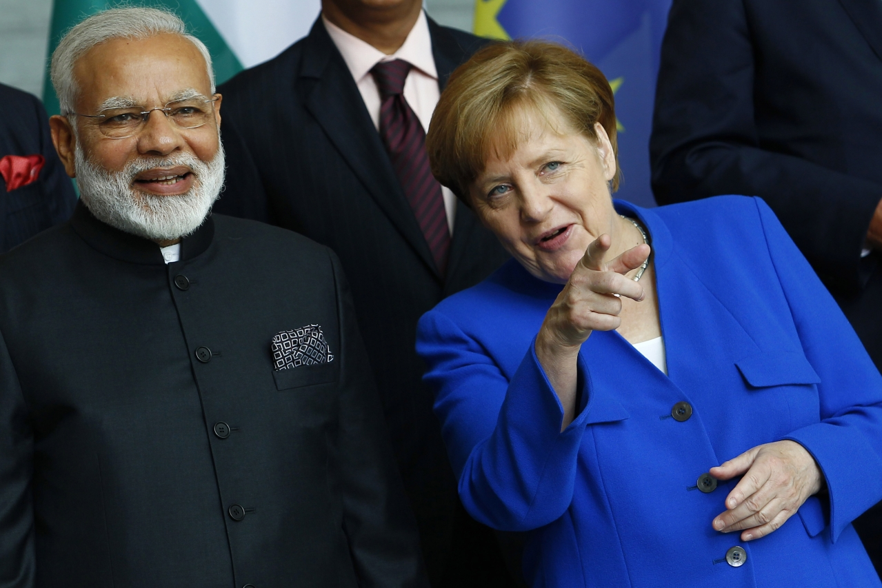 Narendra Modi and Angela Merkel (Michele Tantussi/Getty Images)