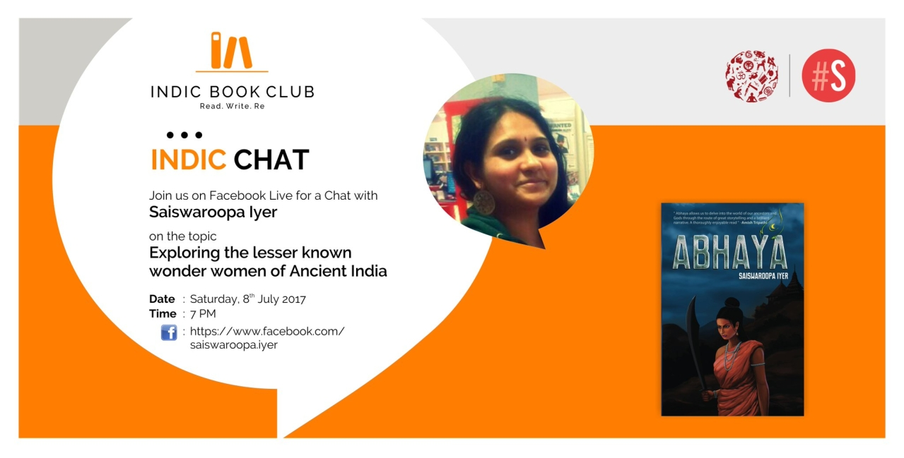 Details of the Facebook chat with the author Saiswaroopa Iyer.