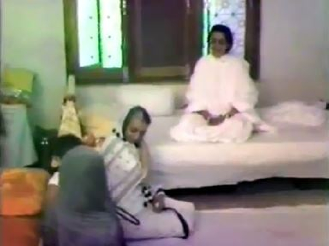 Indira Gandhi at a mutt