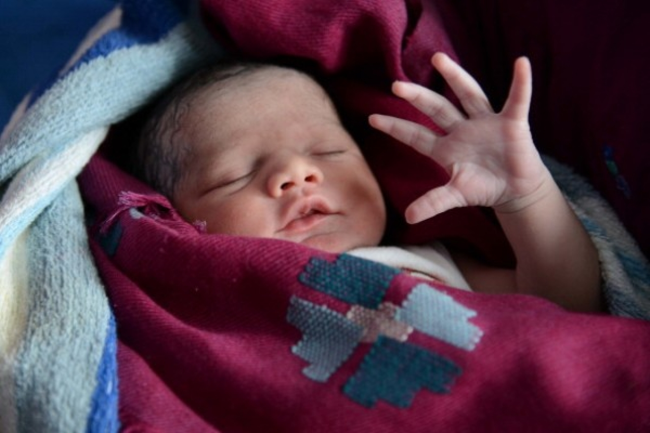 A new-born baby at a government hospital in Amritsar (NARINDER NANU/AFP/Getty Images)