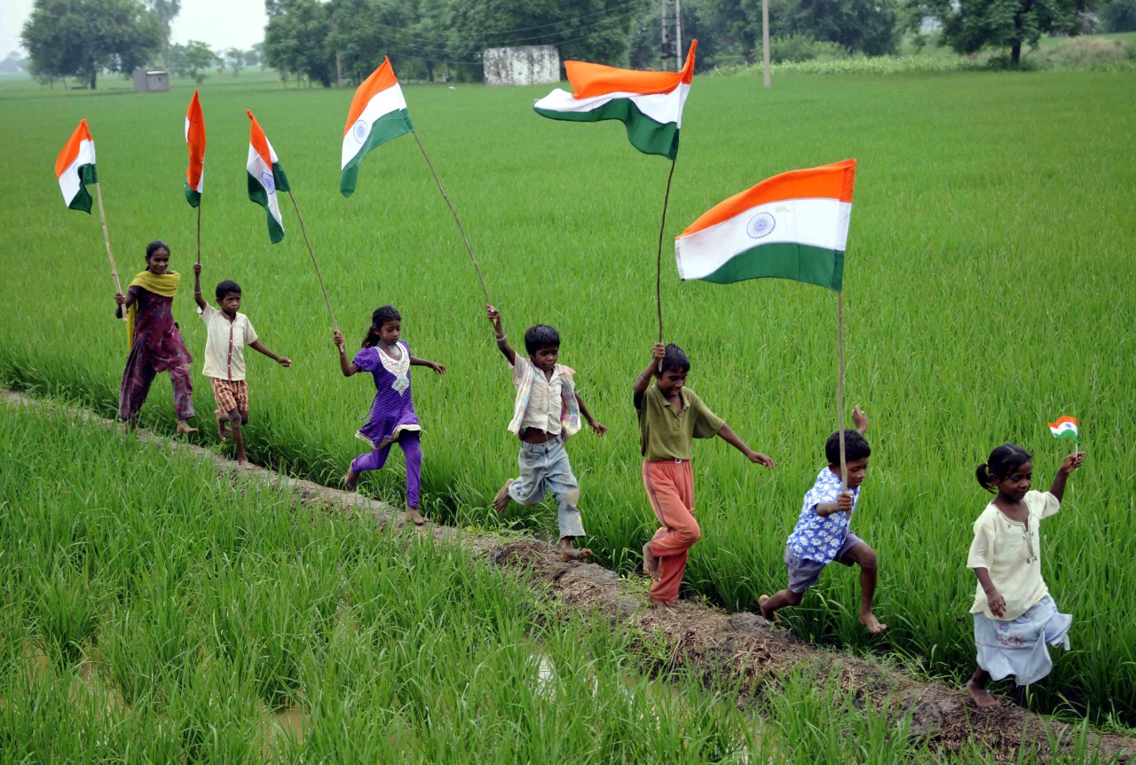 Seven decades of Independent India (Bharat Bhushan/Hindustan Times/Getty Images)