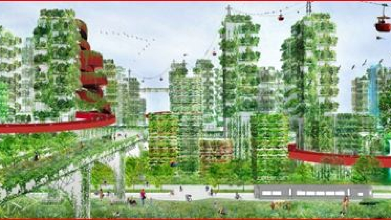 From vertical forests to forest cities? (Architectural rendering of a forest city: Stefano Boeri)