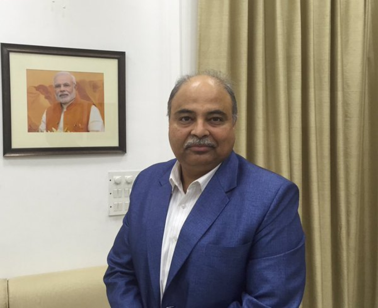 Uday Mahurkar at the Prime Minister's Office to meet Prime Minister Narendra Modi. (@UdayMahurkar/Twitter)