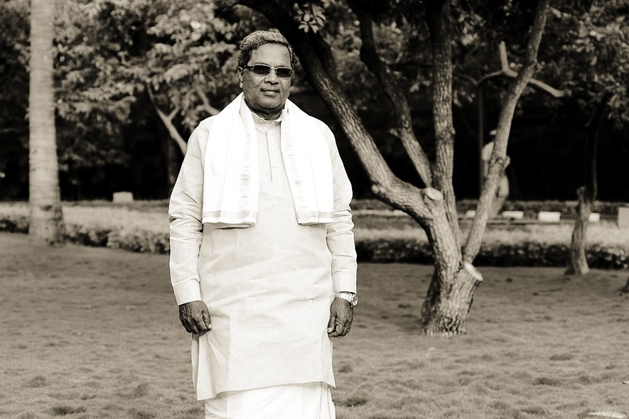 Karnataka Chief Minister K Siddaramaiah poses for a profile shoot on September 18, 2015 in Bengaluru. (Hemant Mishra/Mint via Getty Images)