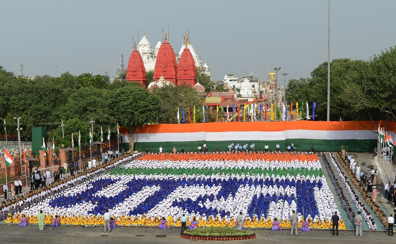 India's 71st Independence day celebrations (Photo: MONEY SHARMA/AFP/Getty Images)