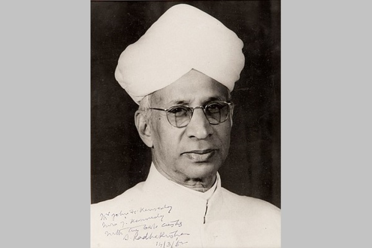Dr radhakrishnan eminent philosopher of the past today