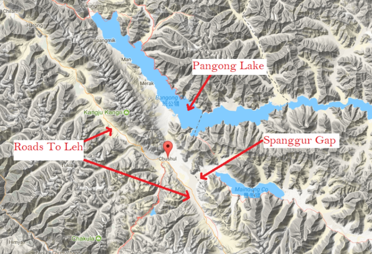 Location of Spanggur Gap. (Source: elevationmap.net)