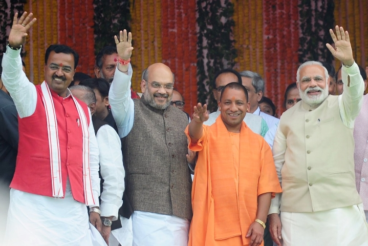 BJP Reaches A New High In UP, Likely To Touch 50 Per Cent Vote Share