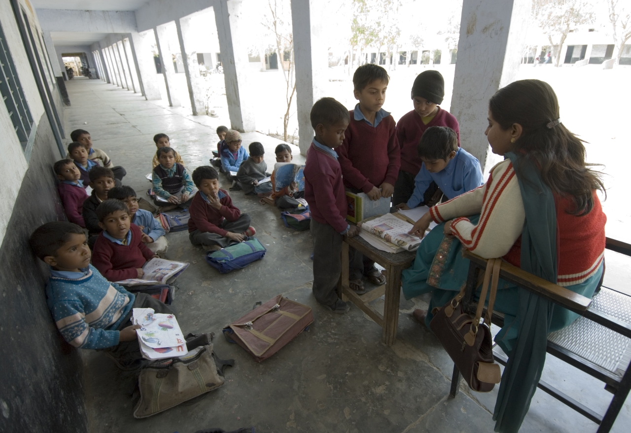 A government school (Priyanka Parashar/Mint via Getty Images)