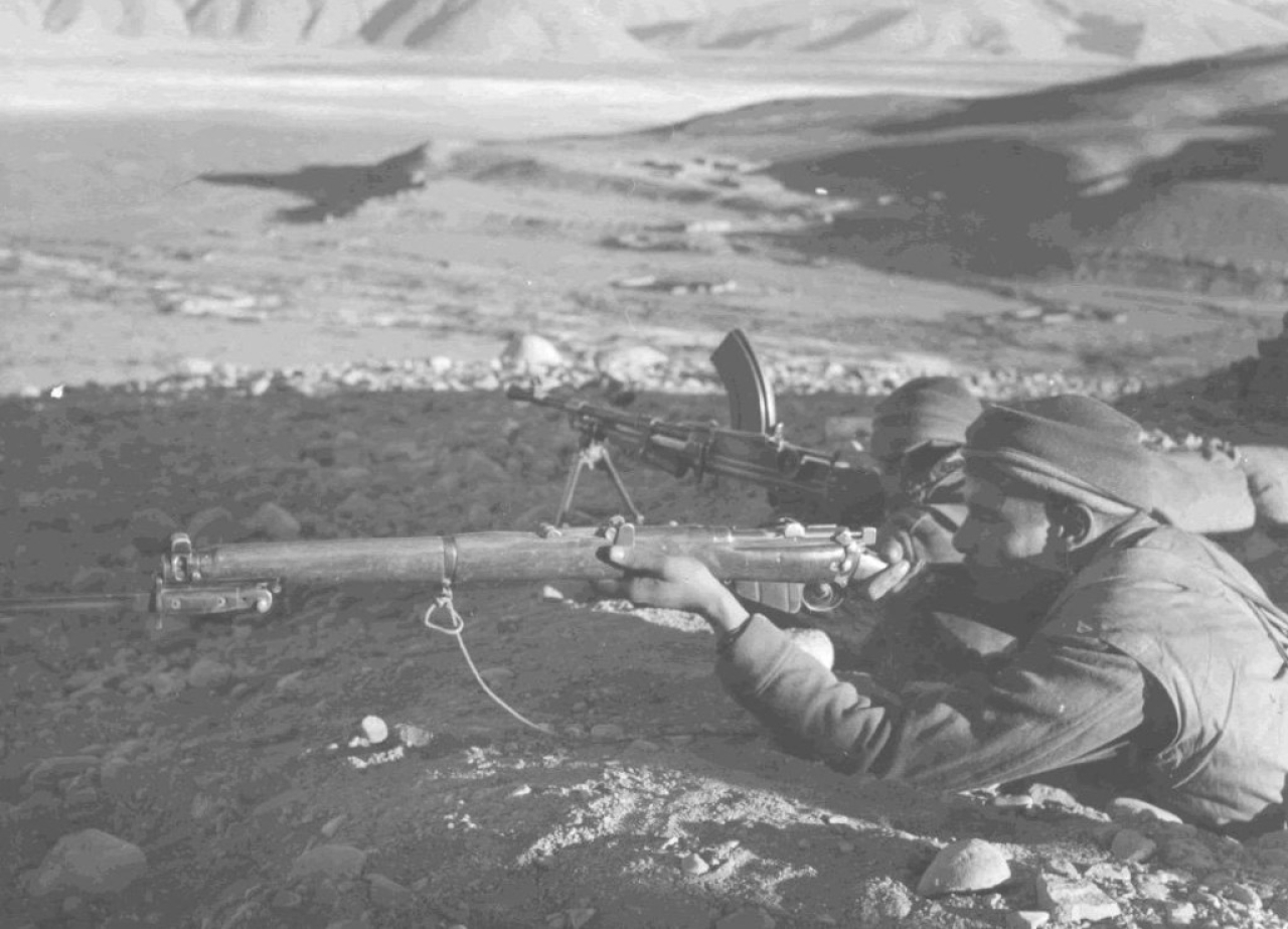 Indian Army jawans in the Chushul valley in 1962.