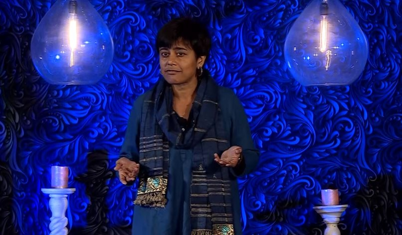 Roopa Pai speaks at an event. (YouTube image grab)