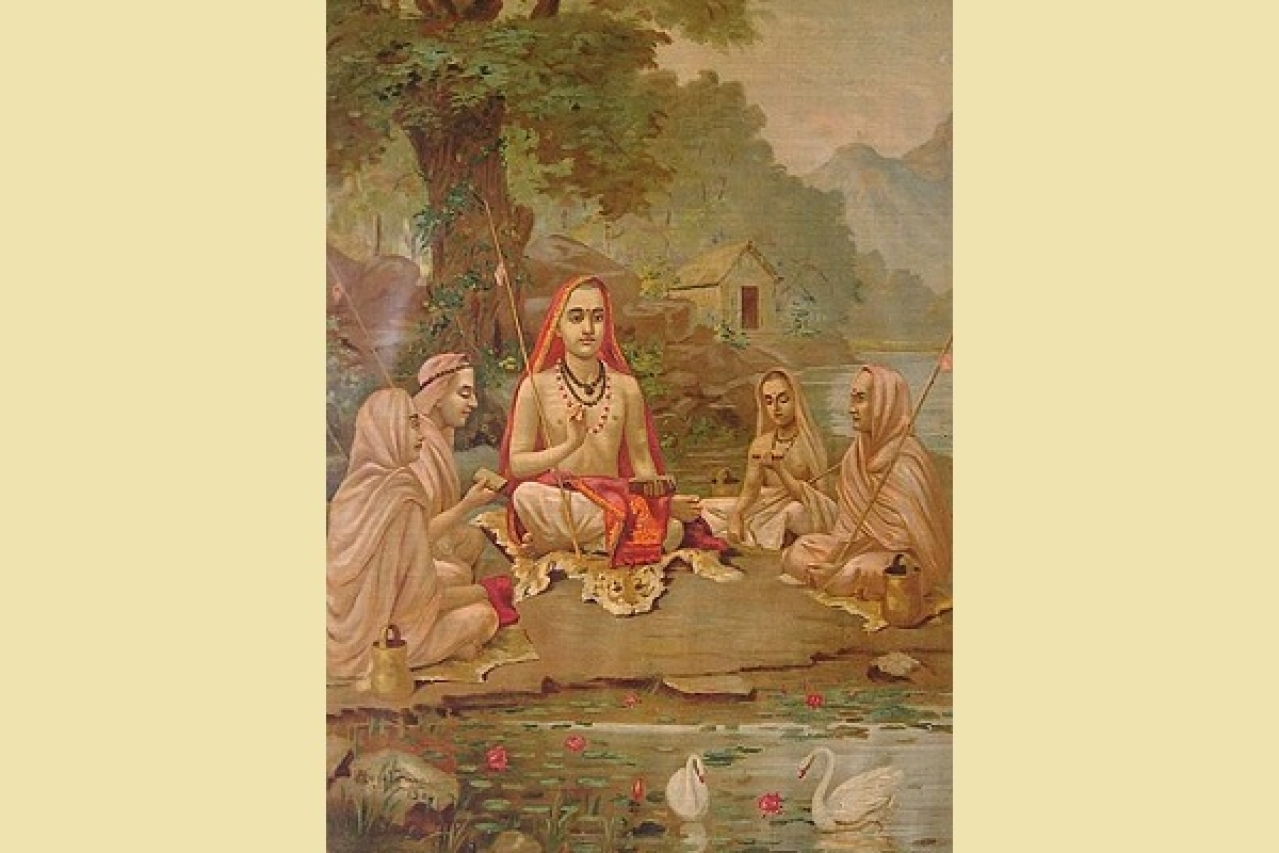 Adi Shankara with disciples/Wikimedia Commons
