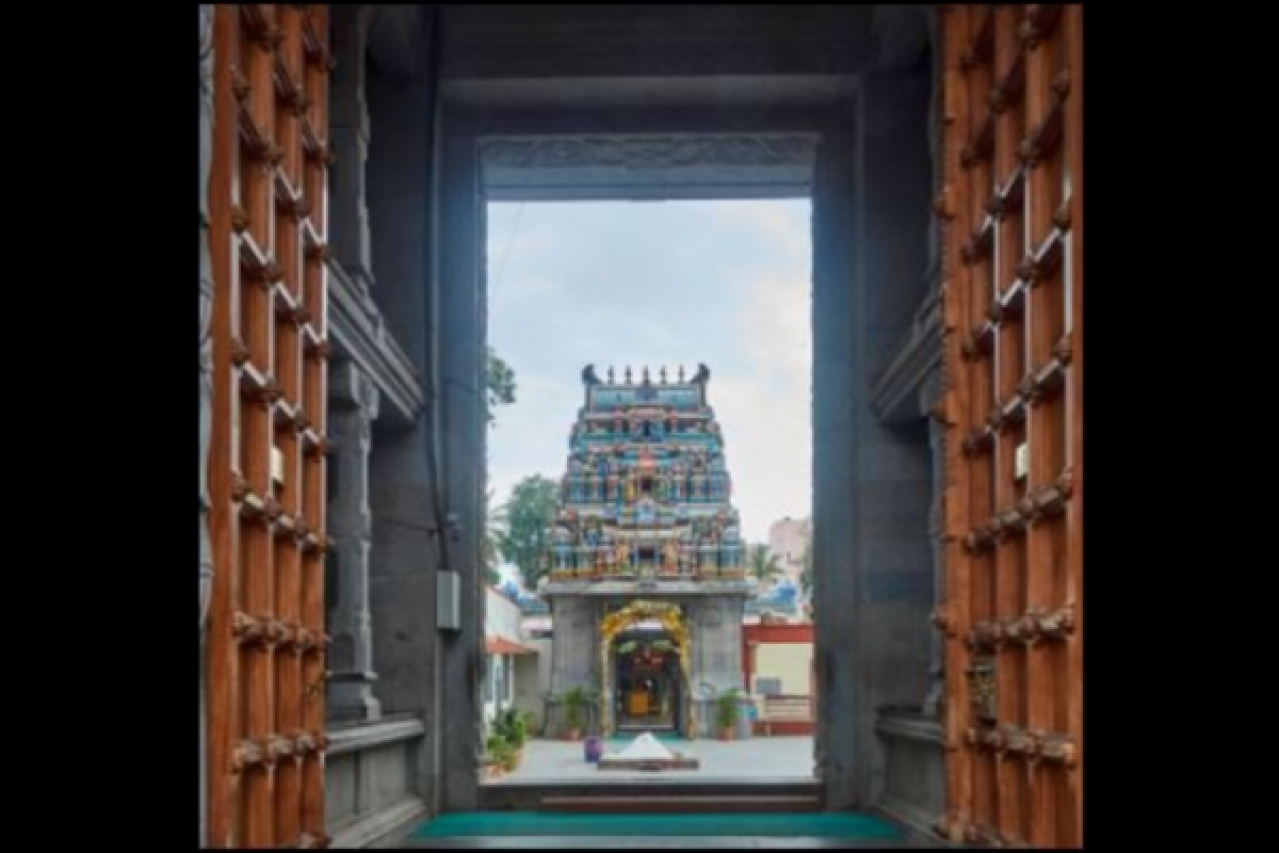 The gateway to Koniamman Temple. (Divya Chandran)