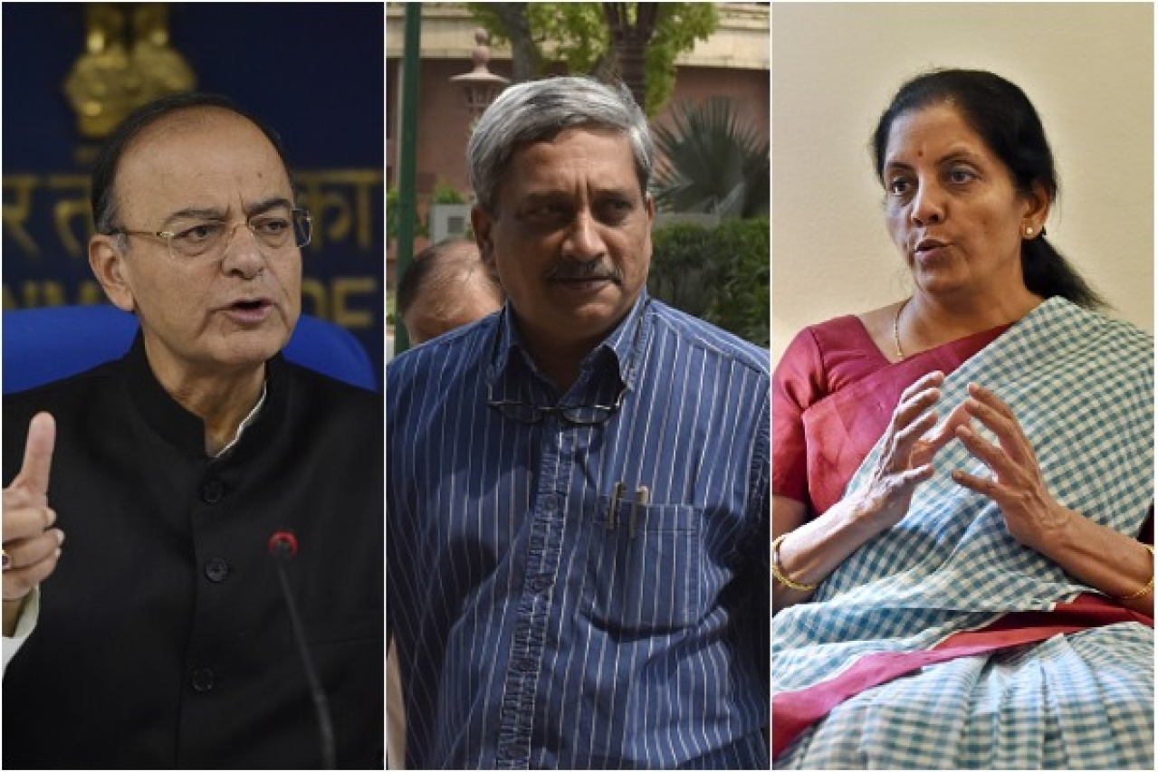 The three Defence Ministers of the Modi government