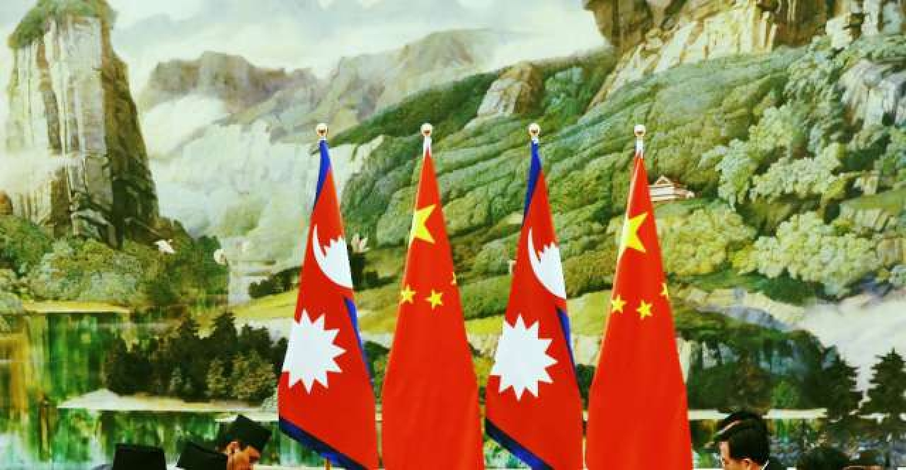 Nepal and China flags (Lintao Zhang/Pool/GettyImages)