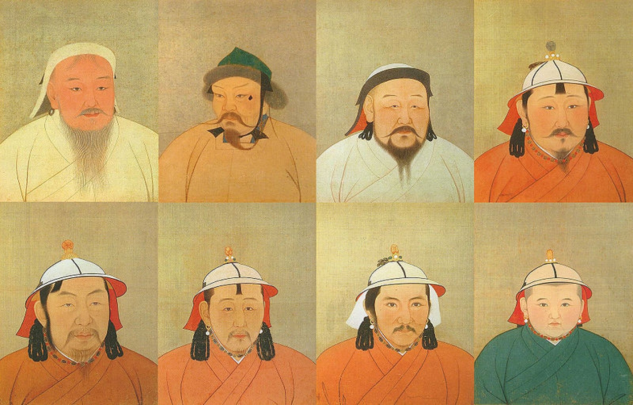 Eight of 15 Great Khagans of the Mongolian Empire   (Giorgiomonteforti/ Wikimedia Commons)