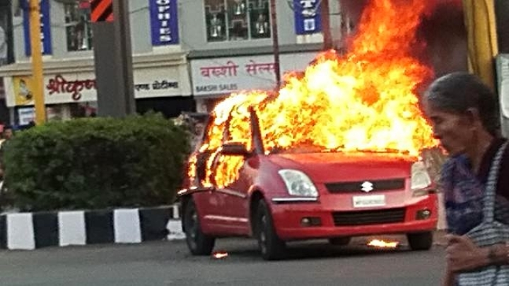 Protesting Padmaavat Release, Karni Sena Protestors Set Fire To Fellow Activist's Car In Bhopal