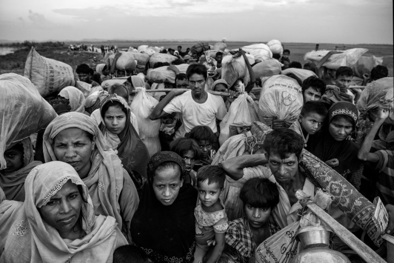 Representational image: Rohingya Muslim refugees crowd as they wait to proceed to camps. (Kevin Frayer/Getty Images)