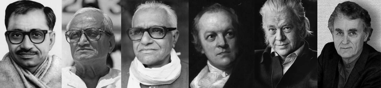 From left to right, Deendayal Upadhyaya, Thengadi, Sheshadri, Blake, Schumacher and Fritjof Capra: Hindutva has a sustained critique of mechanical and Newton's worldview,  which aligns with a long but not dominant Western tradition of the same.