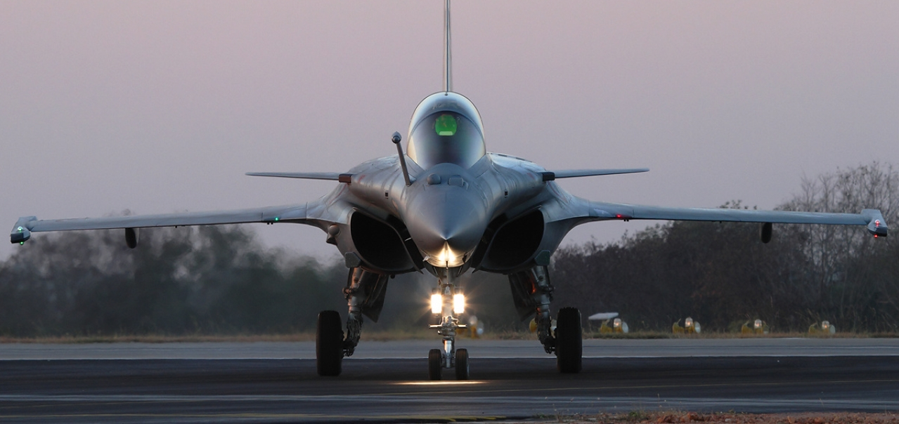 A Rafale fighter jet.