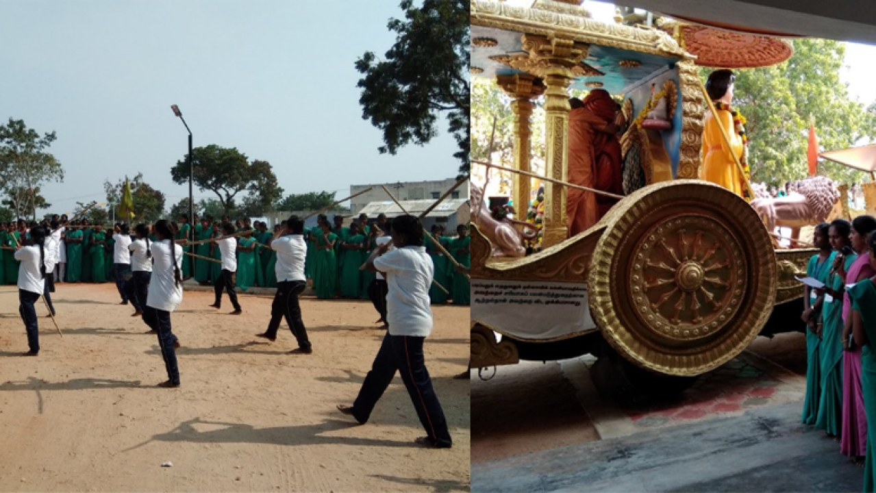 Nivedita Rath Yatra welcomed with <i>shastra </i>and <i>sastra. </i>