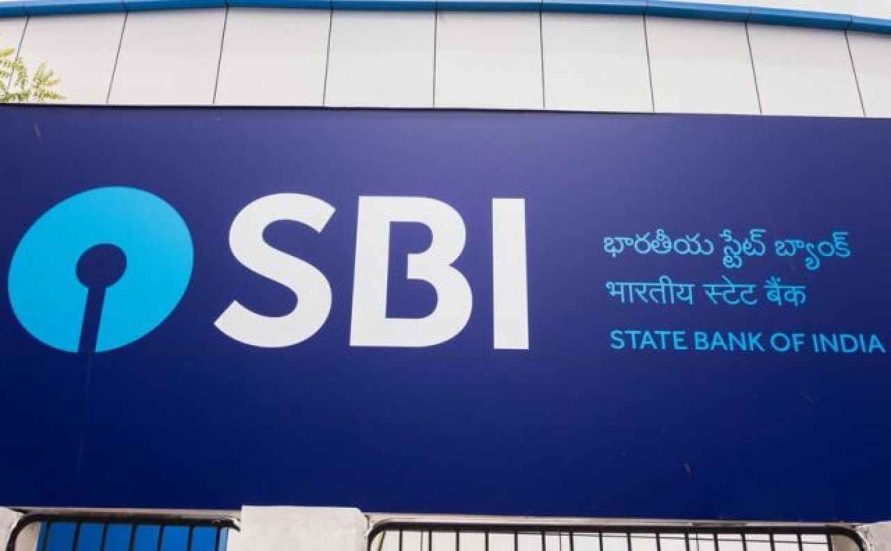 A State Bank of India branch.