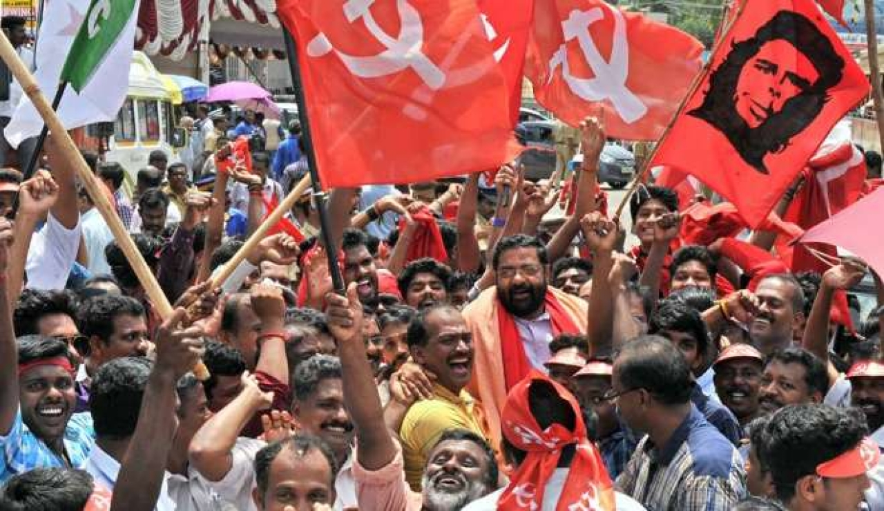 A communist rally in Kerala