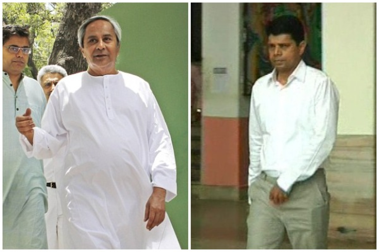 Naveen Patnaik and V Karthikeyan Pandian, right