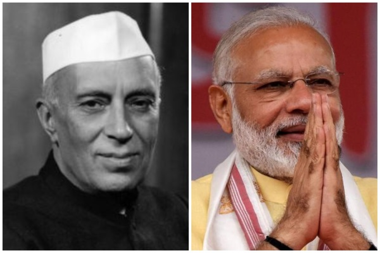 Image result for nehru and modi