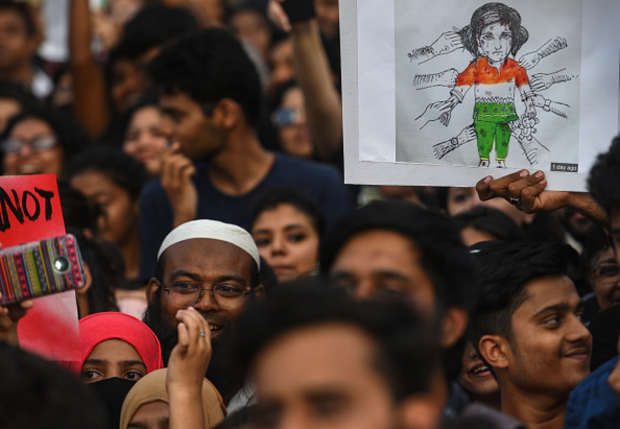 A protest against the Kathua rape case in Mumbai on April 15