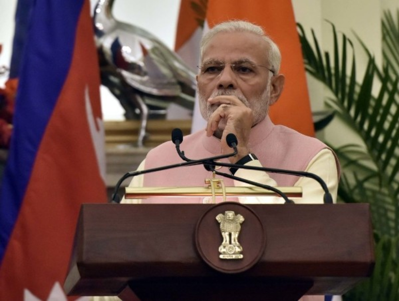 Prime Minister Modi has said he welcomes reasoned criticism but that all he gets are allegations. (Sonu Mehta/Hindustan Times via Getty Images)