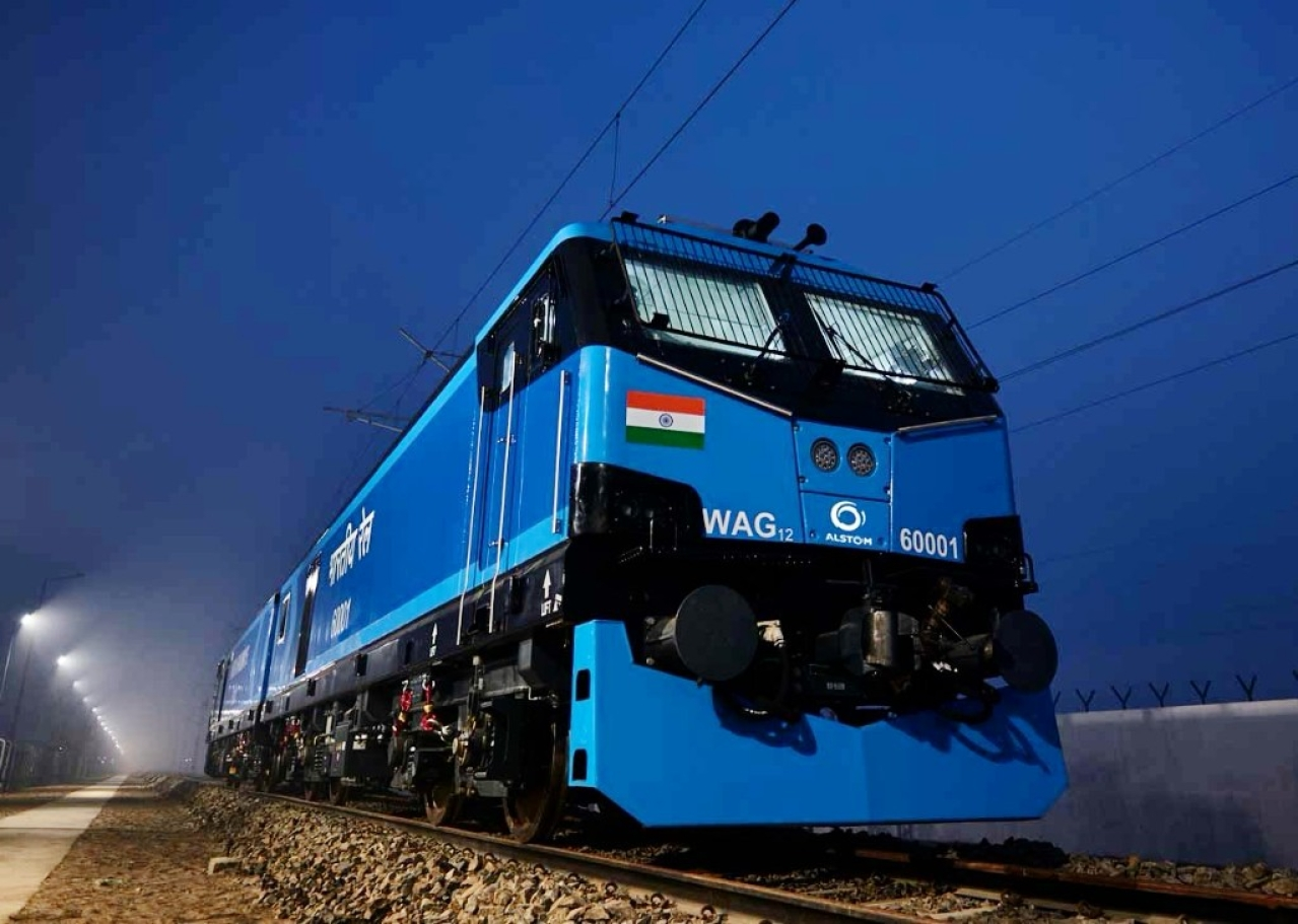 The Indian locomotive class WAG-12, one of the most powerful electric locomotives in the world.