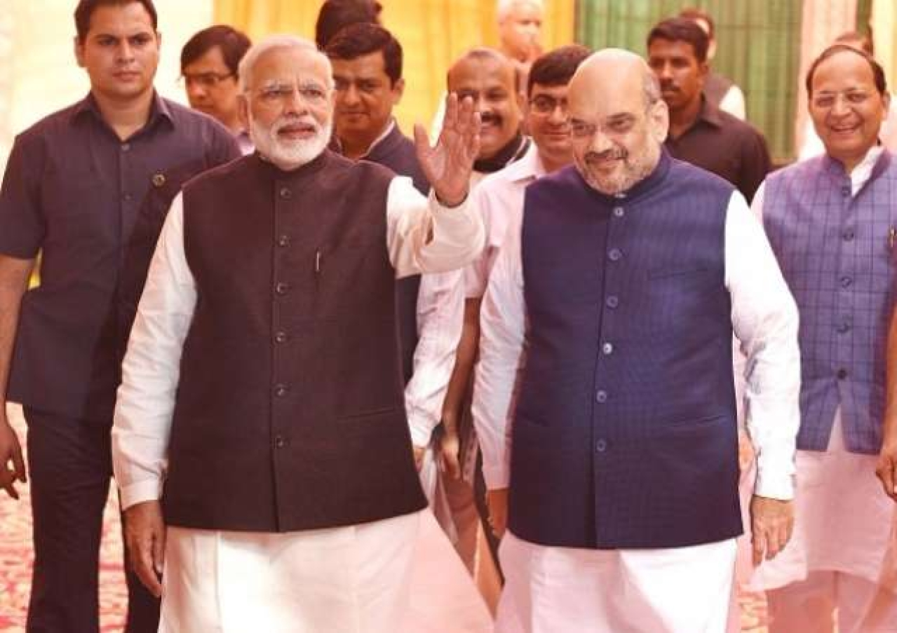 'BJP Will Return Back With An Even Bigger Majority': Amit Shah, PM Modi Address Press Conference