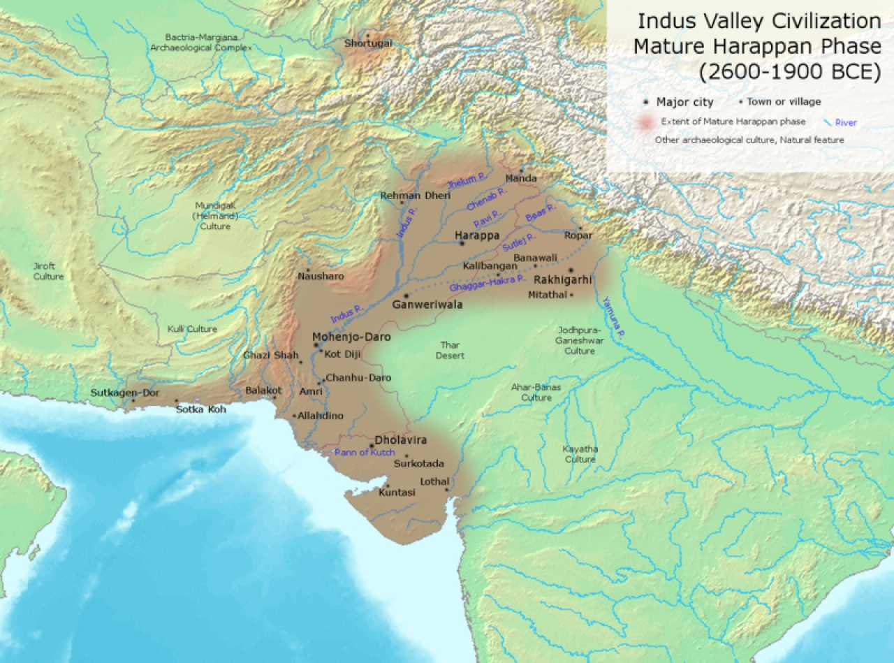 The ancient Indus Valley. (Wikimedia Commons)