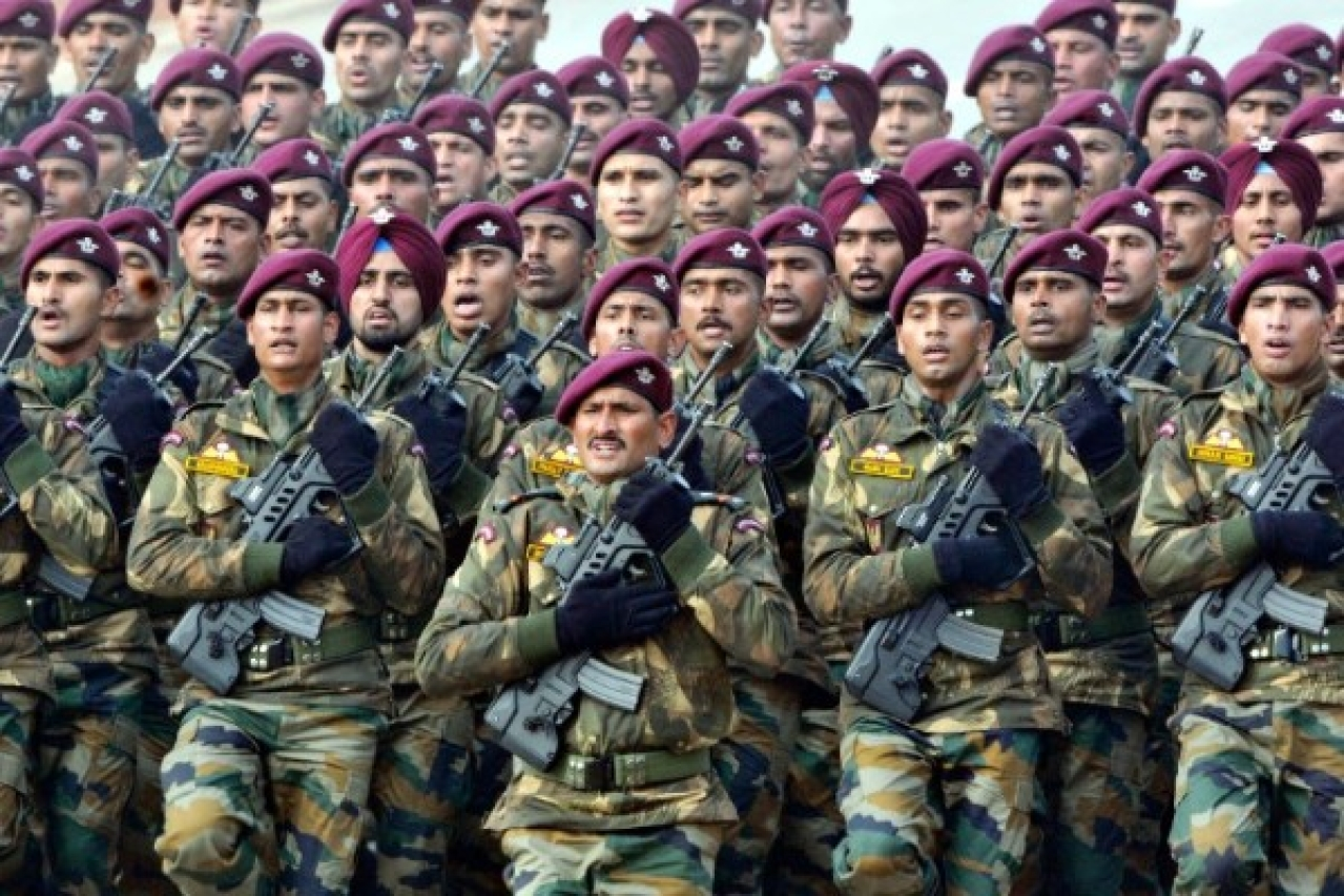 Parachute Regiment Jawans of Indian Army (Mohd Zakir/Hindustan Times via Getty Images)