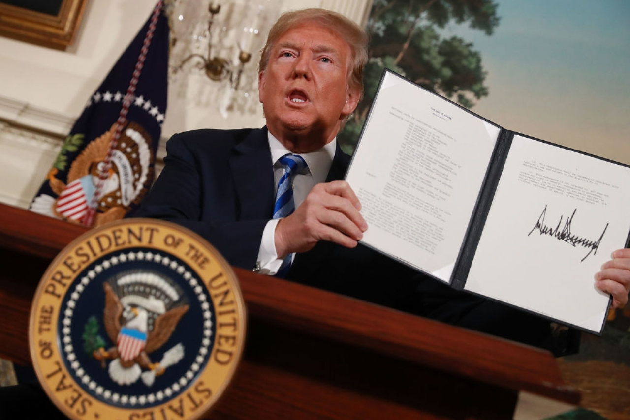Trump Ups The Ante Against Iran, Signs Executive Order Imposing 'Hard Hitting' Sanctions.