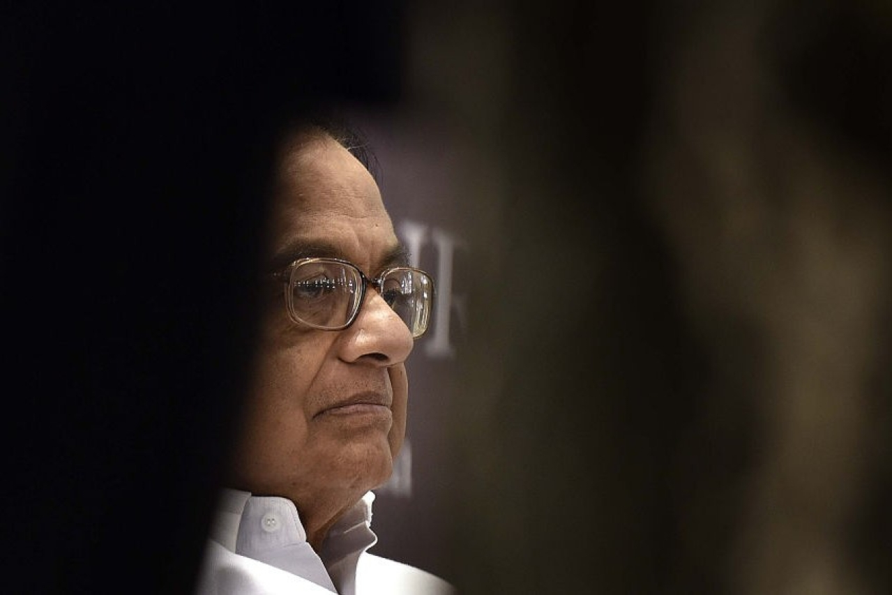 Congress leader P Chidambaram during an event in New Delhi. (Raj K Raj/ Hindustan Times via GettyImages)