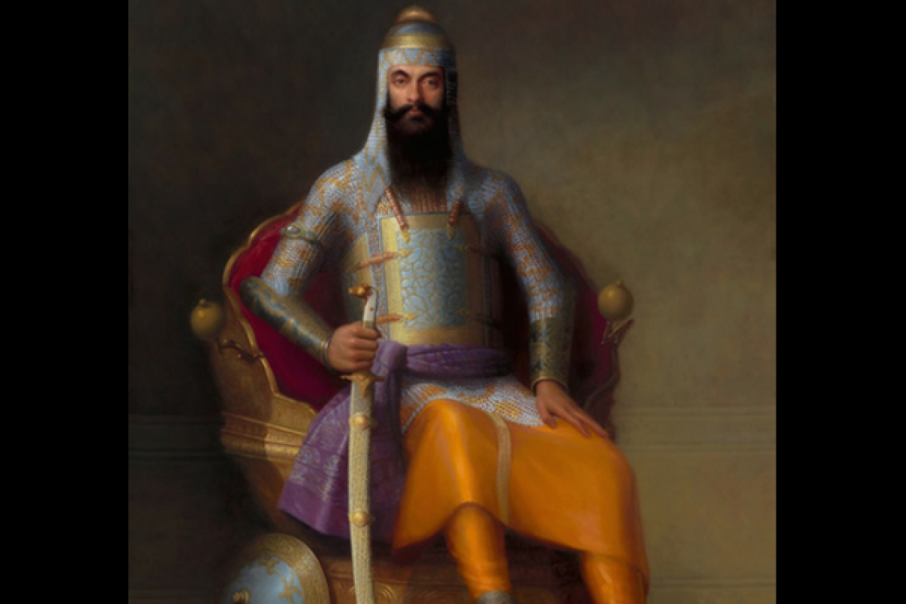 A portrait of Maharaja Ranjit Singh of Lahore