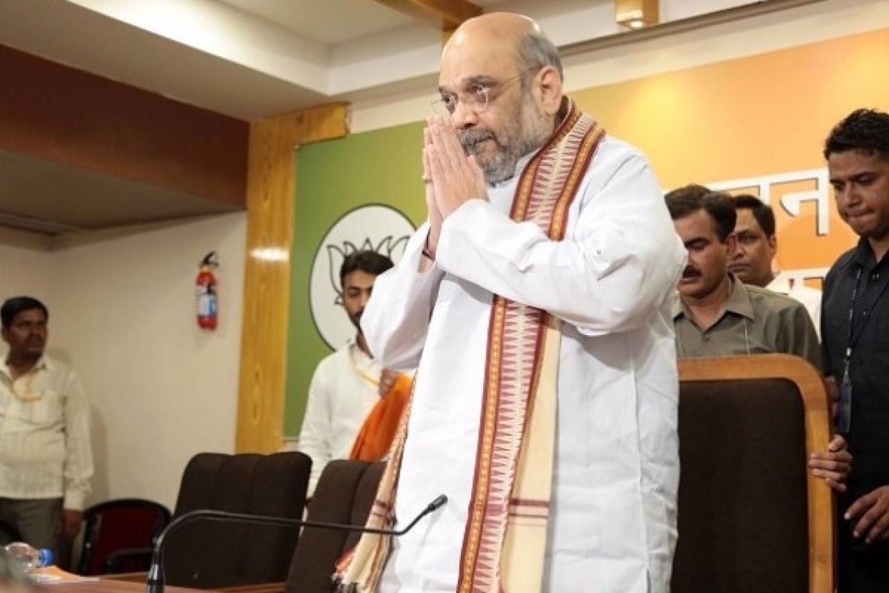 BJP national president Amit Shah. (Deepak Gupta/Hindustan Times via Getty Images)