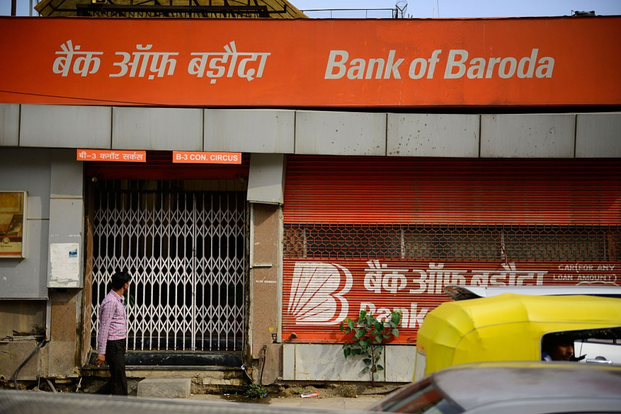 A Bank of Baroda branch in New Delhi (Pradeep Gaur/Mint via Getty Images)