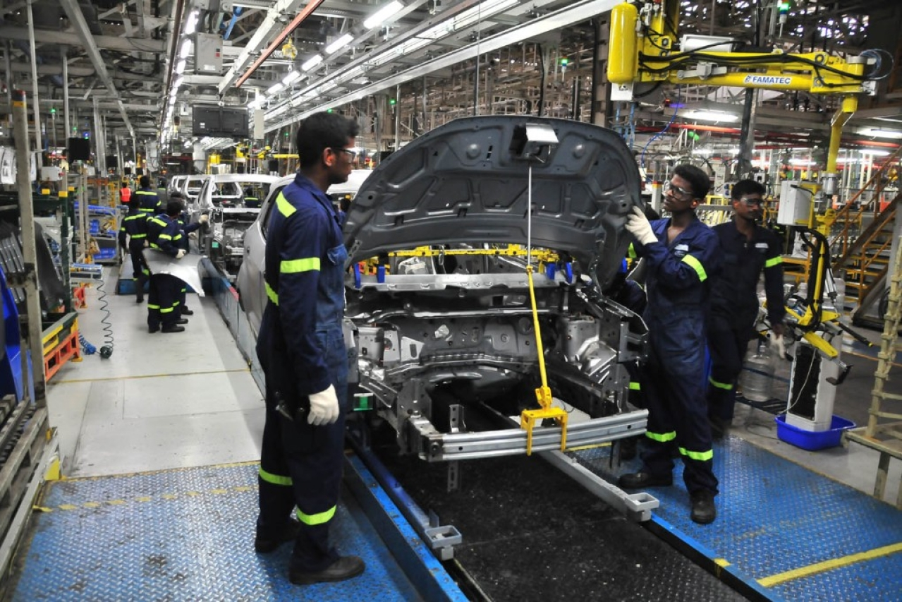 The Ford production line in Chengalpattu, Chennai. (Autocar Professional)