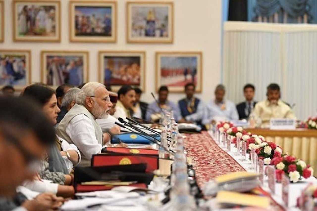 Prime Minister Narendra Modi at a NITI Aayog meeting. (GettyImages)