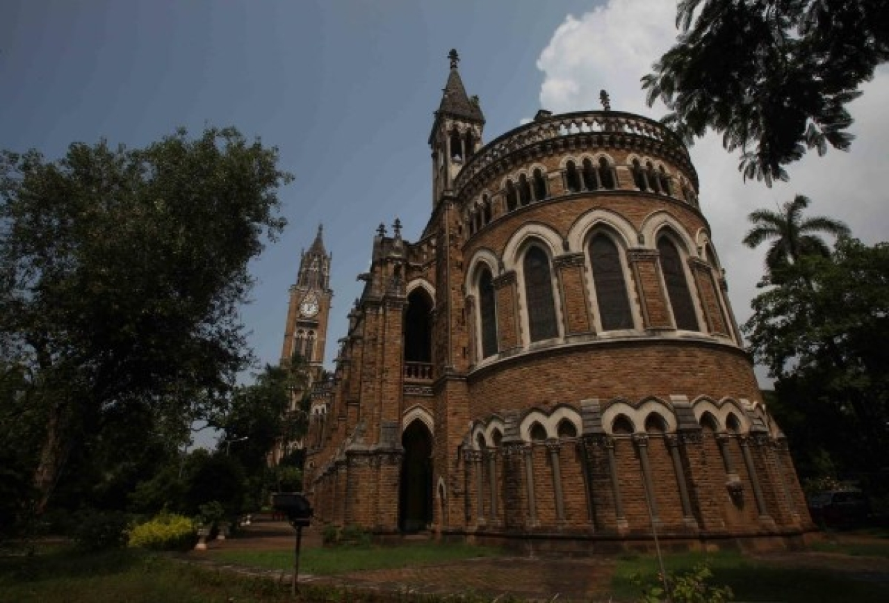 The Rajabai Tower allows Mumbai University campus to stand out in a cluster of buildings at Fort. (Anshuman Poyrekar/Hindustan Times via Getty Images)