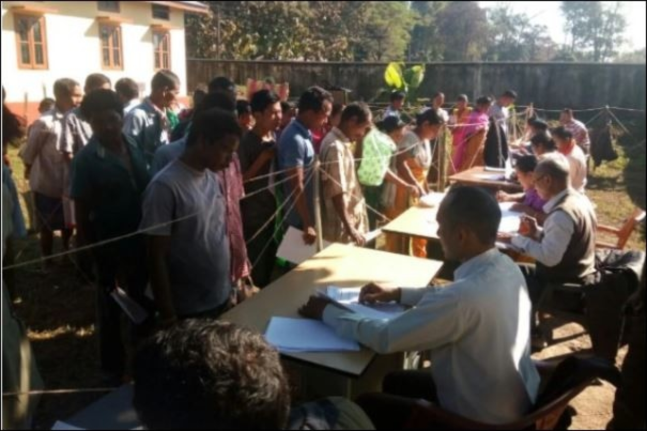 People visiting NSK in Kokrajhar to check inclusion in Part Draft NRC. (NRC Updation Assam/Twitter)