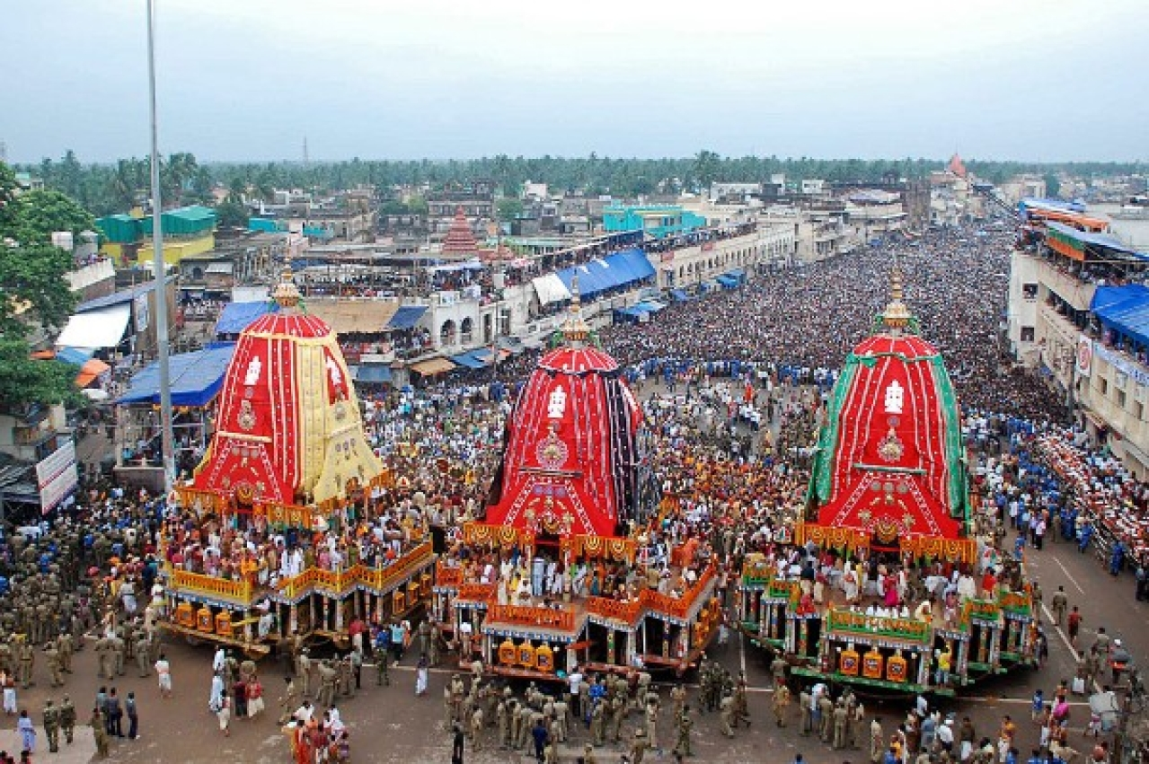 Rath Yatra in Puri. (STR/AFP/GettyImages)