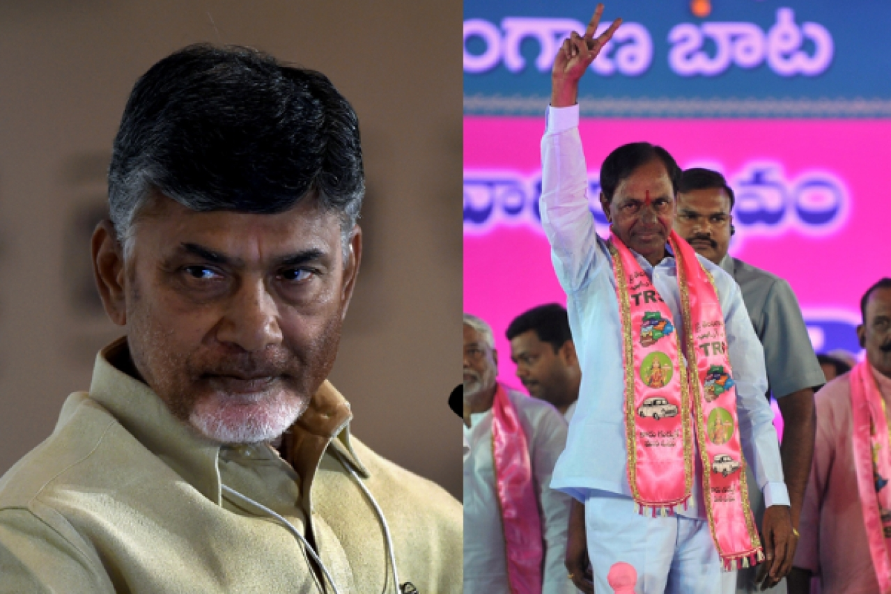 Top performers: Andhra Pradesh CM Chandrababu Naidu and Telangana CM KC Rao