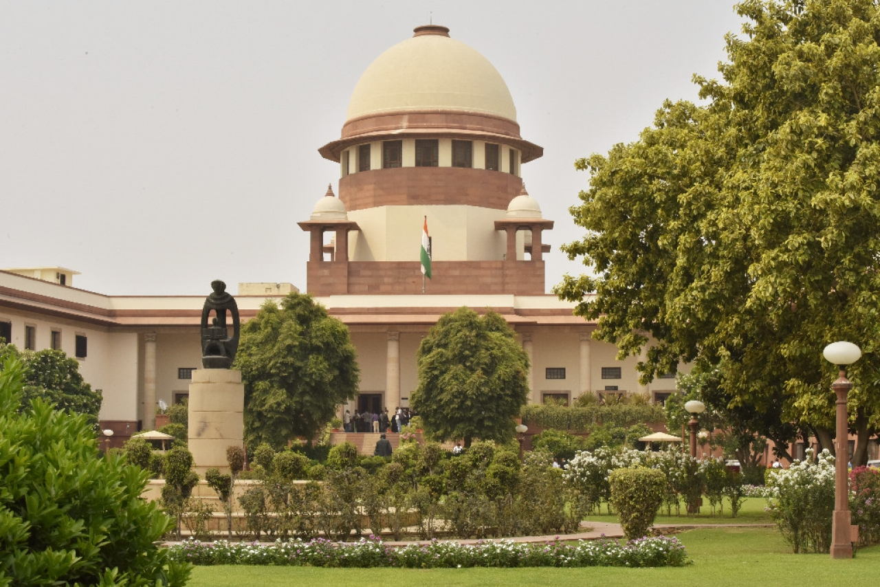 A view of the Supreme Court in New Delhi, India. (Sonu Mehta/Hindustan Times via Getty Images)