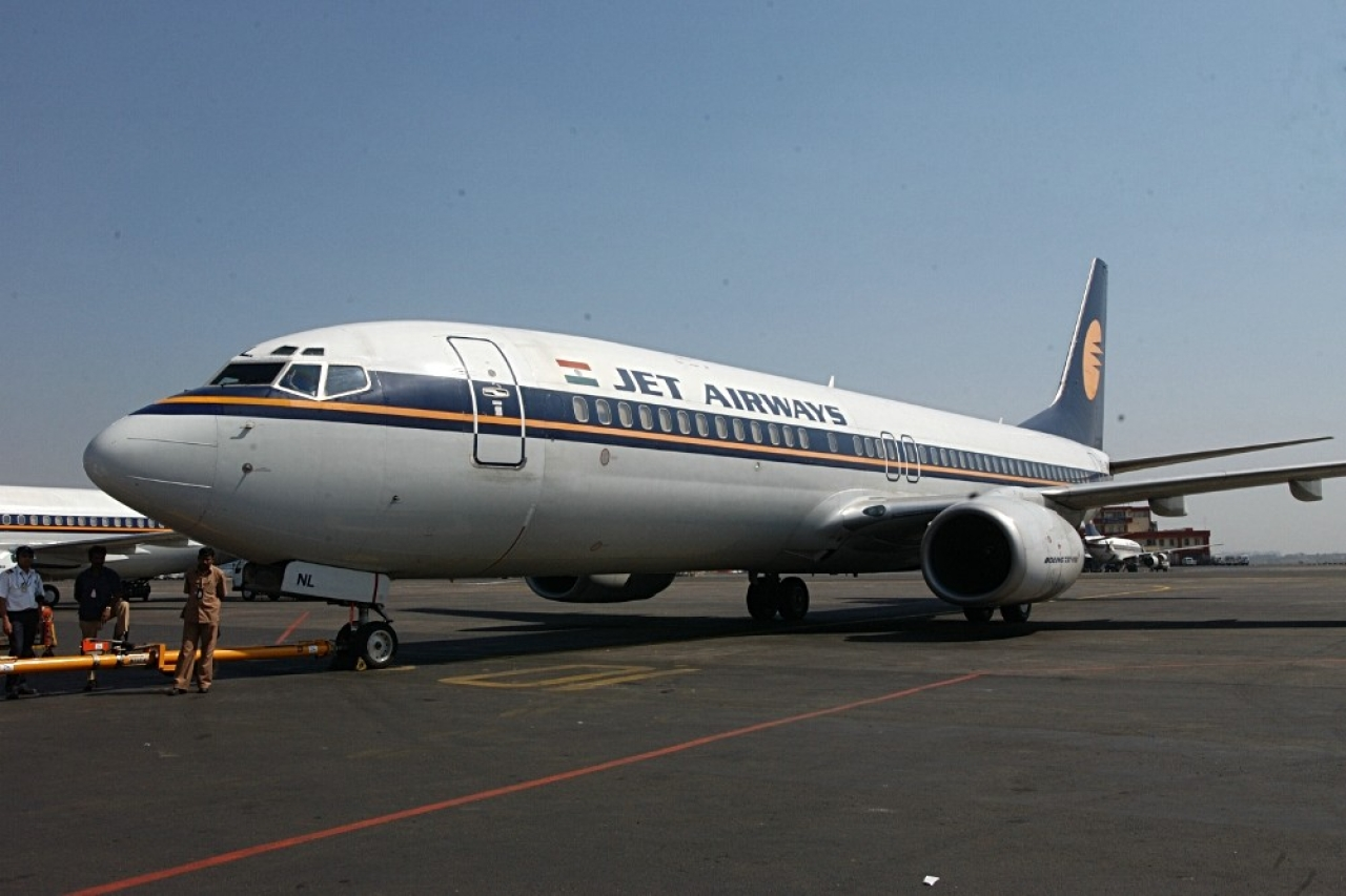 A Jet Airways plane. (Bhaskar Paul/The India Today Group/Getty Images)