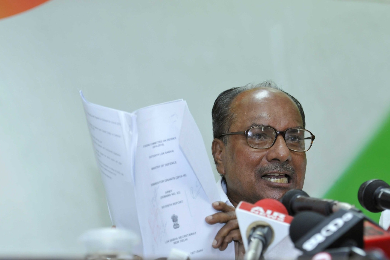 Former Defence Minister AK Antony. (Saumya Khandelwal/Hindustan Times via Getty Images)